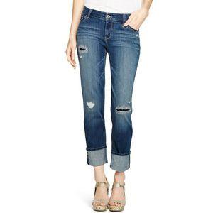 WHBM Dark Wash Straight Crop Jeans Size 2 26